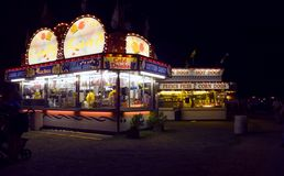 Nighttime Food Vendors Royalty Free Stock Images