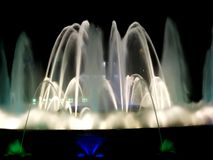 Nighttime fountain display stock photos