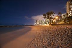 Nighttime in Hawaii. Stock Photo