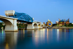 Nighttime image of Chattanooga, Tennessee Stock Images