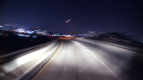 Nighttime la highway driving timelapse. Video of nighttime la highway driving timelapse stock video