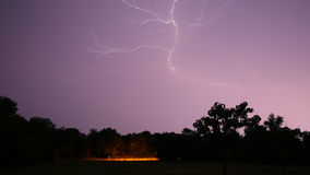Nighttime lightening bolt Royalty Free Stock Photos