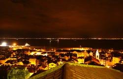 Nighttime in Lisbon, Portugal (Lisboa) Stock Image