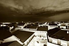 Nighttime in Lisbon, Portugal (Lisboa) Royalty Free Stock Image