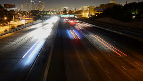 Nighttime los angeles city highway. Video of nighttime los angeles city highway stock video