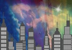 Nighttime miasta głąbik royalty ilustracja