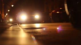 Nighttime miasta ulic ruch drogowy zdjęcie wideo