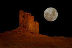 Nighttime in Monument Valley Arizona Stock Photo