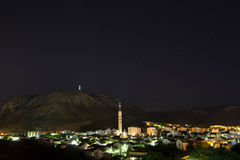 Nighttime in Mostar Stock Images