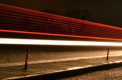 Nighttime Motorway Light Blur Royalty Free Stock Images