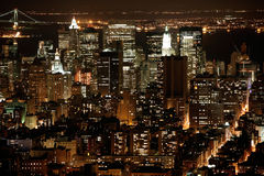 nighttime ny стоковое фото
