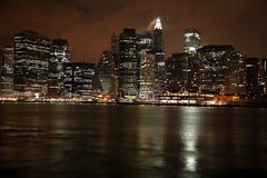 Nighttime in NY, Manhattan Stock Image