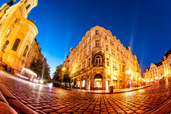 Nighttime at Old Town Square. Prague, Czech Republic Stock Photos