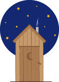 Nighttime Outhouse Royalty Free Stock Image