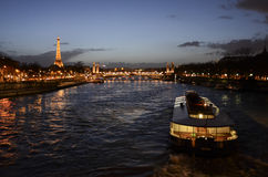 Nighttime in Paris Royalty Free Stock Images