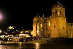Nighttime in Peru. A nighttime view of Peru stock photography
