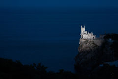 Nighttime photos of well-known castle Swallow's Royalty Free Stock Images