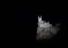 Nighttime photos of well-known castle Swallow's Royalty Free Stock Photo