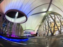 Nighttime przy Dadong sztuk centrum Zdjęcia Stock