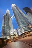 Nighttime przy Petronas Zdjęcia Royalty Free