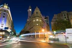 Nighttime scena w mie?cie Buenos Aires zdjęcia stock