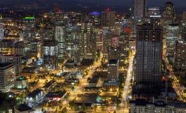 nighttime Seattle Zdjęcia Stock