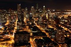 nighttime Seattle Obrazy Stock