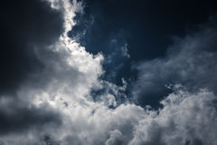 Nighttime sky with cloudy, would make a great background. Royalty Free Stock Photography
