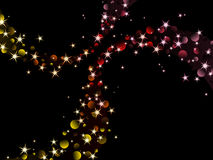 Nighttime sparkles, warm colors. Background with glittering lights. Graphics are grouped and in several layers for easy editing. The file can be scaled to any Stock Photography