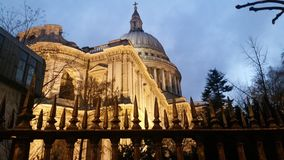 Nighttime at St Paul& x27;s Royalty Free Stock Images