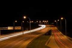 Nighttime Traffic Royalty Free Stock Image
