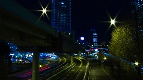 Nighttime up?ywu ulica przy biznesowym miasteczkiem w Akasaka Tokio szerokim strzale zbiory wideo