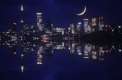 Nighttime view of city lights, Sydney, Australia Royalty Free Stock Photo