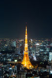 Nighttime view of Tokyo Tower, Tokyo City View At night, Tokyo, Royalty Free Stock Image