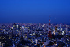 Nighttime view of Tokyo Tower in Tokyo, Japan Royalty Free Stock Photography