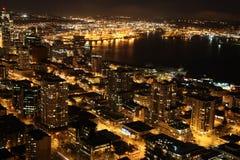 Nighttime w Seattle, usa Zdjęcie Stock