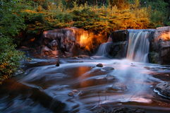Nighttime Waterfall Royalty Free Stock Photography