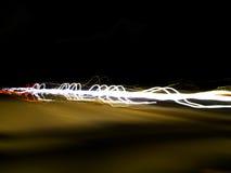 nighttimetrafik Royaltyfria Bilder