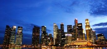 Nightview Σινγκαπούρης cbd Στοκ Φωτογραφίες