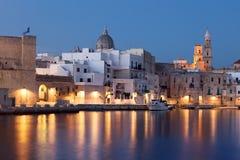 Nightview του θαλάσσιου λιμένα Monopoli Apulia Στοκ εικόνα με δικαίωμα ελεύθερης χρήσης