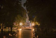 Nightview του πάρκου Schevchenko στο Κίεβο, Ουκρανία Στοκ Εικόνα