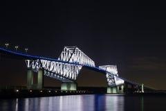 Nightview моста строба токио Стоковое Изображение