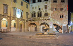 Nightview of the Comune square, Prato Stock Photography