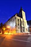 Nightview da igreja de Blach, Brasov, Romania Fotografia de Stock