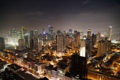 Nightview da skyline da cidade de Manila Fotos de Stock