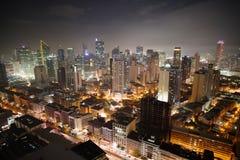 Nightview da skyline da cidade de Manila Imagem de Stock Royalty Free