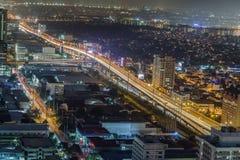 Nightview da skyline da cidade de Manila, Manila, Filipinas Imagens de Stock Royalty Free