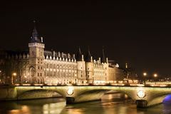 Nightview de la prisión del Bastille Fotos de archivo libres de regalías