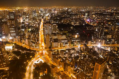 Nightview de Tokio Foto de archivo libre de regalías