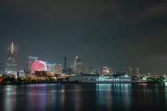 Nightview del área de Minato Mirai de la ciudad de Yokohama Fotografía de archivo